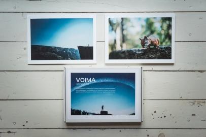 VOIMA -valokuvakortit sarja A